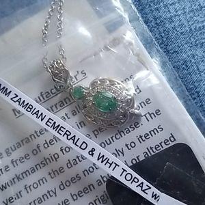Zambian emerald necklace